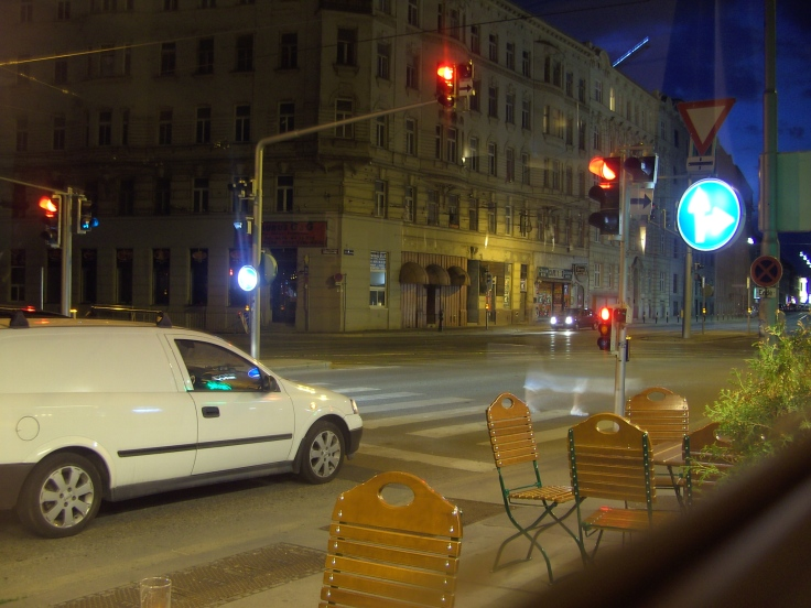 Wien; view from Old Oak pub; Gaz the muppet is the head chef