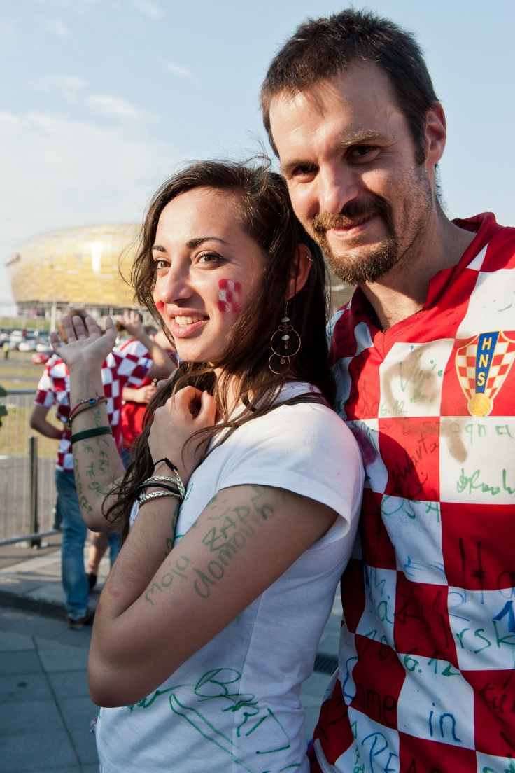 Before Croatia vs Spain match on Euro 2012 in Gdansk, Poland :D