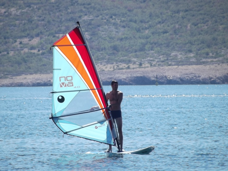 Windsurfing in Starigrad-Paklenica... thanks to great lesson by Lucija the Bossy Ass coach :d